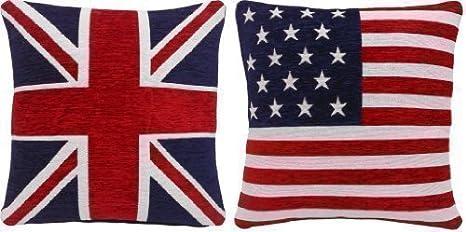 Bandera Británica Azul Blanco Rojo&AMERICANO ESTRELLAS Y ...