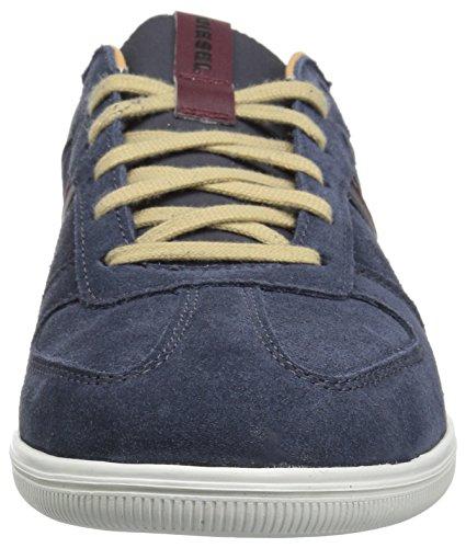 Diesel Heren Happy Hours S-alloy Sneaker Blauwe Iris / Cordovan Rood