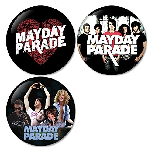 Mayday Parade #1 Pinback Buttons Badges/Pin 1.25 Inch (32mm) Set of 3 New