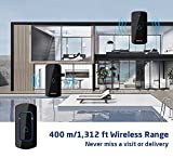 AVANTEK Wireless Doorbell, Waterproof Door Chime Kit Operating at Over 1,300 Feet with 52 Chimes & 5 Volume Levels, 2 Plug-in Receivers & 1 Remote Button with 3-Year Battery life