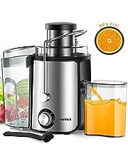Centrifugeuse Extracteur de Jus Centrifugeuse Fruits et Légumes avec Bouche 65 MM et 2 Vitesses sans BPA ELEHOT