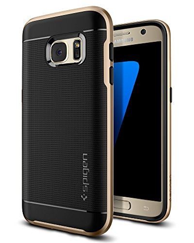 Spigen Neo Hybrid Galaxy S7 Case with Flexible Inner Protection and Reinforced Hard Bumper Frame for Samsung Galaxy S7 (2016) - Champagne Gold - Case Hybrid Hard