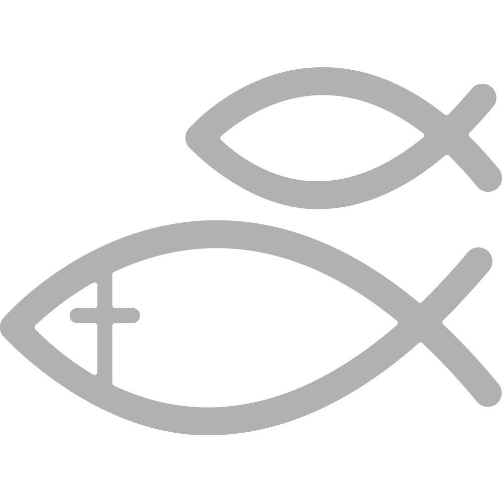metallo grigio Rayher 59978000/fustelle: Fishes 1,7/x 1/x 0,02/cm