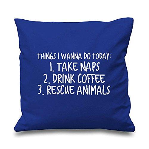 Cosas que hacer hoy rescate animales cojín manta decorativa ...