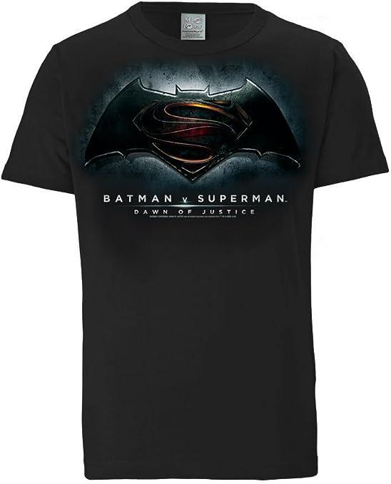 Logoshirt Camiseta Batman v Superman - el Amanecer de la Justicia - DC Comics - Dawn of Justice - Camiseta con Cuello Redondo Negro - Diseño Original con Licencia: Amazon.es: Ropa y accesorios