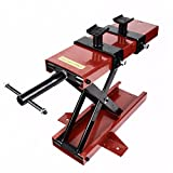 500KG Mini Motorcycle Scissor Lift Jack Adjustable Plate w/ 6'' Removable Crank Handle