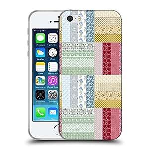 Super Galaxy Coque de Protection TPU Silicone Case pour // V00002035 sin patrón floral mosaico // Apple iPhone 5 5S 5G SE