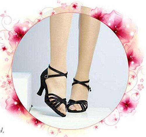 zapatos baile con suela Los 2 adultos latino de aumentaron KUKI suave de zapatos para baile los zapatos de R4g5Sq