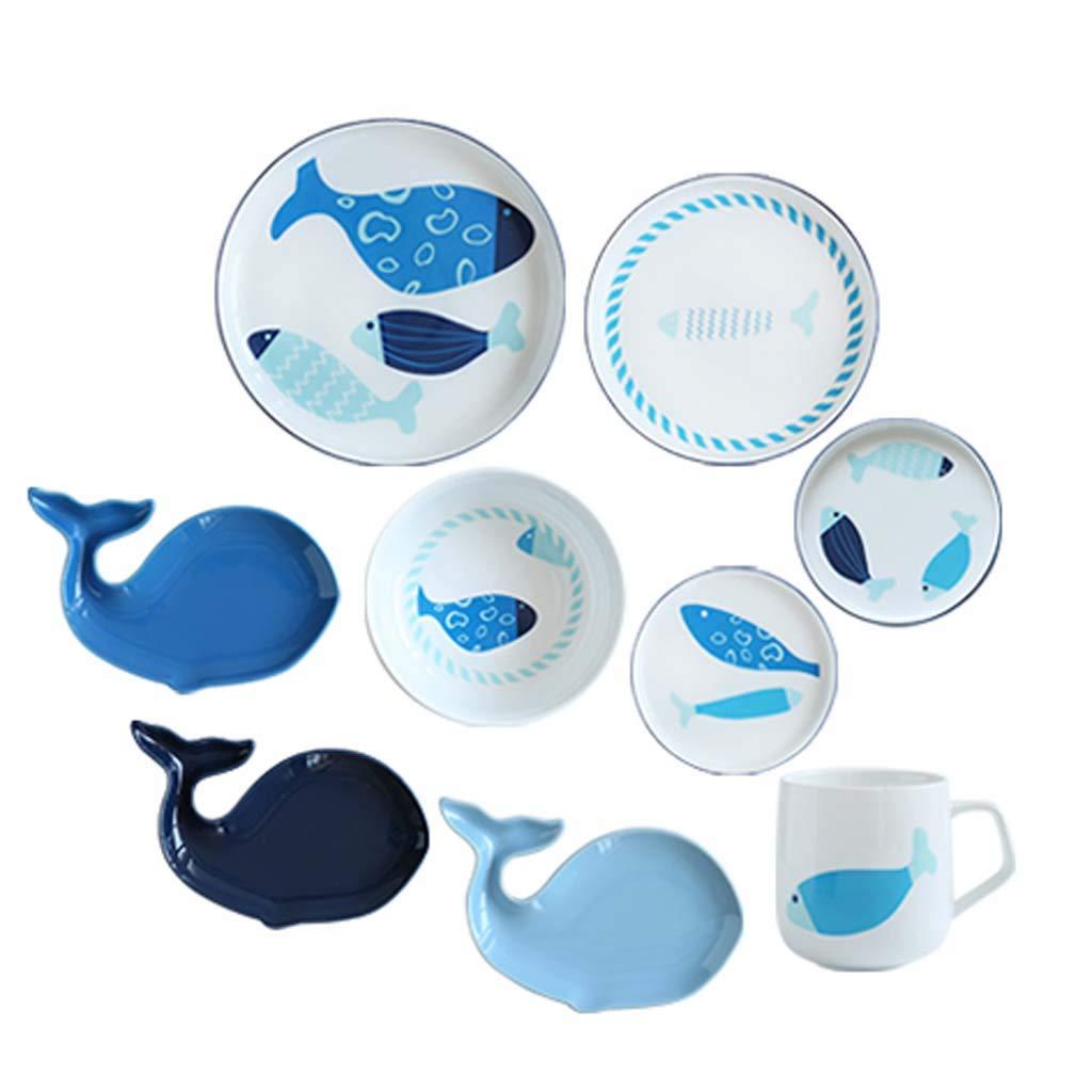 セラミック食器セット家庭料理皿カップ   B07J392BGC