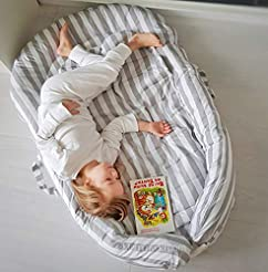 Toddler nest with removable cover and ha...
