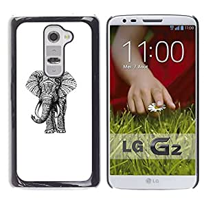 Cubierta protectora del caso de Shell Plástico    LG G2 D800 D802 D802TA D803 VS980 LS980    Pink Teal Drawing Art @XPTECH
