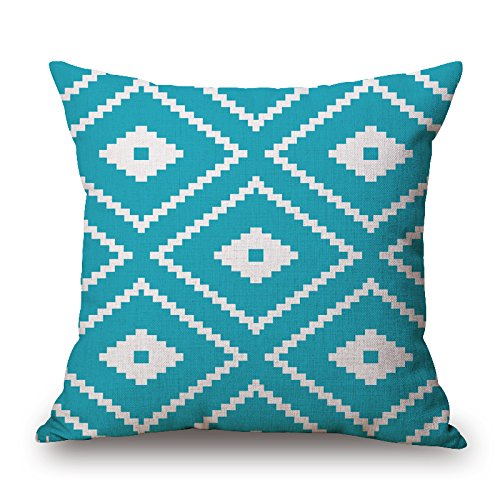 Bestseason 18 X 18 Inches / 45 By 45 Cm Geometric Valentine Day Pillow Covers Two Sides Ornament And Gift To Living Room Bedding Office Seat Christmas Son (Ornament Bicycle Holiday)