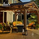BALI OUTDOORS Propane Gas Fire Pit Table, 30 inch