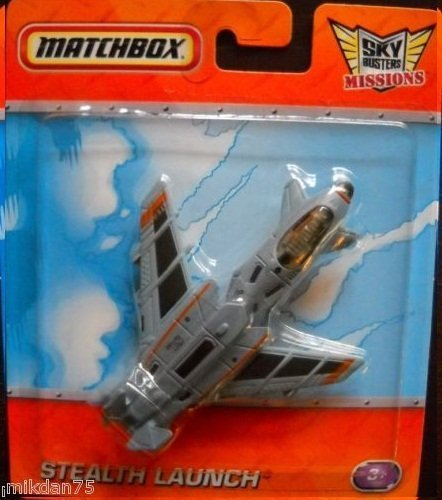 Matchbox- Sky Busters Diecast Aircrafts Stealth Launch