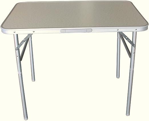 Mesa de camping 90 x 60 cm Aluminio Altura Regulable, mesa ...
