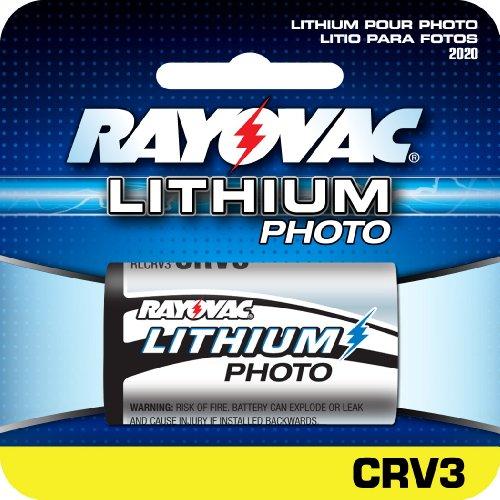 Rayovac Lithium Digital Photo Battery CRV3 Size