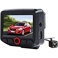 MeHuiLe 2.45 inch FHD 1080P WiFi Dual Lens IPS Screen 165 Wide Angle Dashboard Camera Car Video Recorder G-sensor Parking Monitor Loop Recording Motion Detection WDR Sony