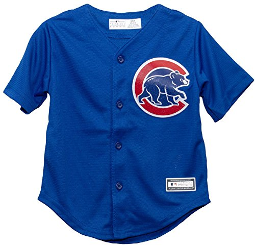 (Outerstuff Chicago Cubs Alternate Blue Toddler Cool Base Jersey (2T))