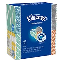 Kleenex Everyday Facial Tissues, 80 Tissues per Cube Box, 4 Pack