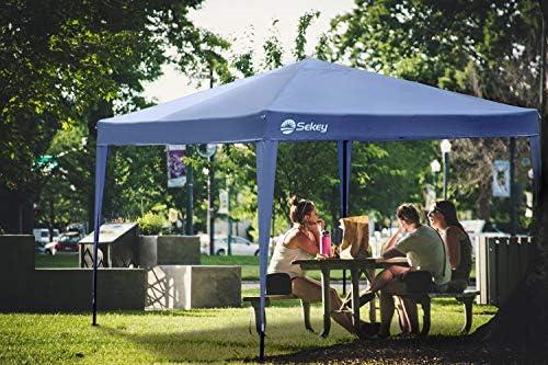 Sekey 3x3m Garden Gazebo/Gazebo Plegable/Gazebo/Fiesta y Dosel/Carpa y Festival/para jardín/Fiesta/Boda, con Paneles Laterales/Paredes Laterales, Azul Impermeable: Amazon.es: Jardín