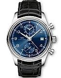IWC Portuguese Chronograph Classic Edition Laureus Blue Dial Black Leather Mens Watch IW3904-06