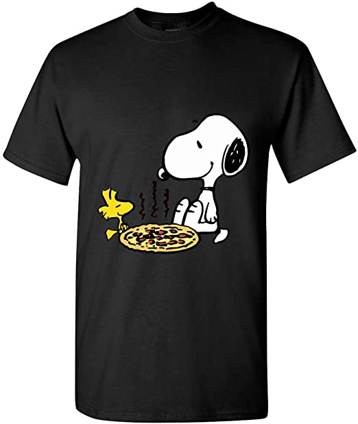 Money Happiness Pizza Funny Black Adult T-Shirt