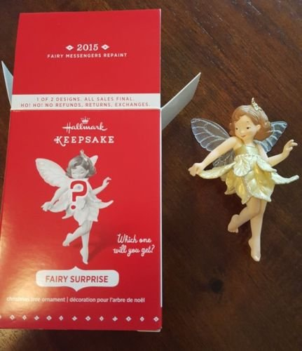 2015 Hallmark Fairy Surprise GOLD MYSTERY Fairy Messengers Repaint GOLD RARE ()