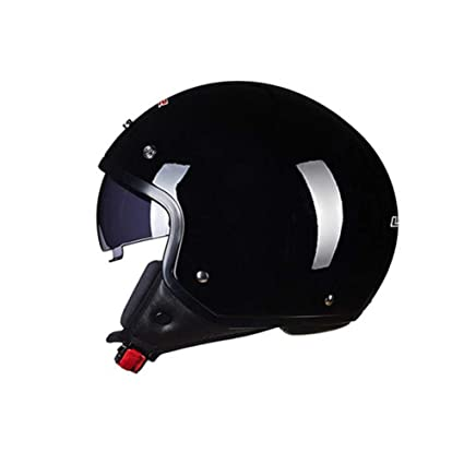 YSH Casco De Motocicleta 3/4 Open Half Face Moto Helmet Racing Riding Cascos Antiguos