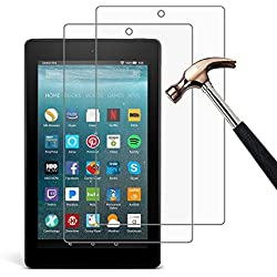 [Pack of 2] Gzerma Fire 7 Screen Protector 2017 Release, Premium High Definition Clear, Shatter Proof, Easy Installation Front Protective Cover Film for All-New Fire 7 Tablet with Alexa, 7th Gen