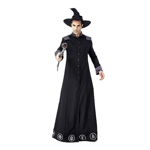 Niuqy - Túnica de Disfraz de Mago de Halloween Vintage para Hombre ...