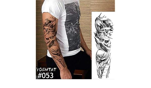 Tatuaje pegatina reloj mecánico completo flor tatuaje con brazo ...
