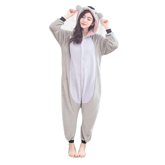 Donpandas Koala Kigurumi Pijamas Unisexo Adulto Cosplay Franela Pijamas Unisexo Traje para Mujer Hombre Disfraz para