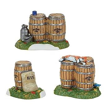 Department 56 Jack Daniel s Barrels and Rye Figurine Village Accessory, Multicolored