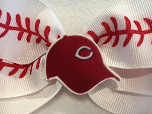 Cincinnati Reds Hair Bow, Baseball Hair Bow, Baseball Hair Accessories, Baseball Hair Clip