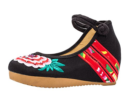 ezShe - Zapatos de tacón  mujer Negro - negro