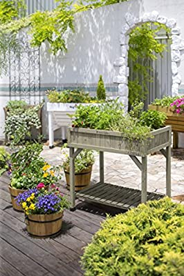 Vegtrug RHP6007GW USA Planter 8 Pocket Herb Garden Grey Wash from Vegtrug