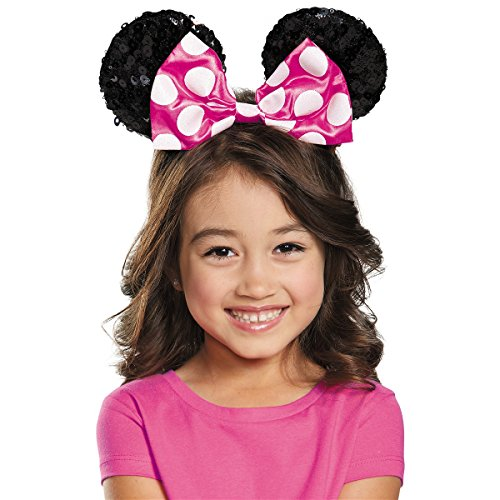Pink Minnie Mouse Sequin Ears Costume Accessory]()
