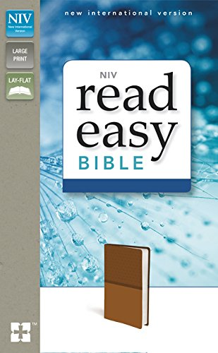 (NIV, ReadEasy Bible, Large Print, Leathersoft, Tan, Red Letter)