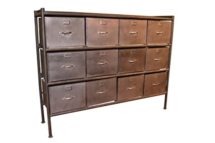 amazon com crafters and weavers west town industrial style 12 rh amazon com Cabinet Console Table with Drawers Gray Cabinets with Drawers Console