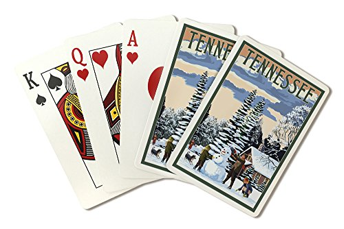 Tennessee - Snowman Scene (Playing Card Deck - 52 Card Poker Size with - Tennessee Snowman