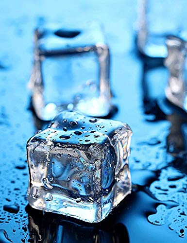 Clear Fake Ice Cubes, 50 PCS 1 2