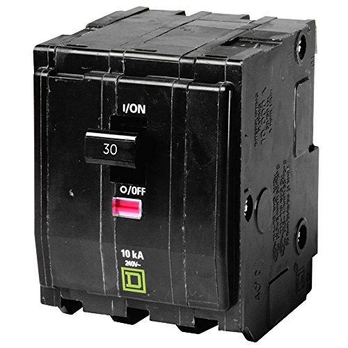 QO330 SQUARE D / TELEMECANIQUE 240 VAC 30 Amp 3 Pole CIRCUIT BREAKER by SQUARE D