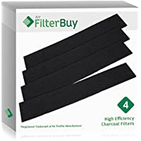 4 - FilterBuy Honeywell HRF-B2, Filter B Replacement Charcoal Filters. Designed by FilterBuy to be Compatible with Honeywell & Vicks Air Purifiers.
