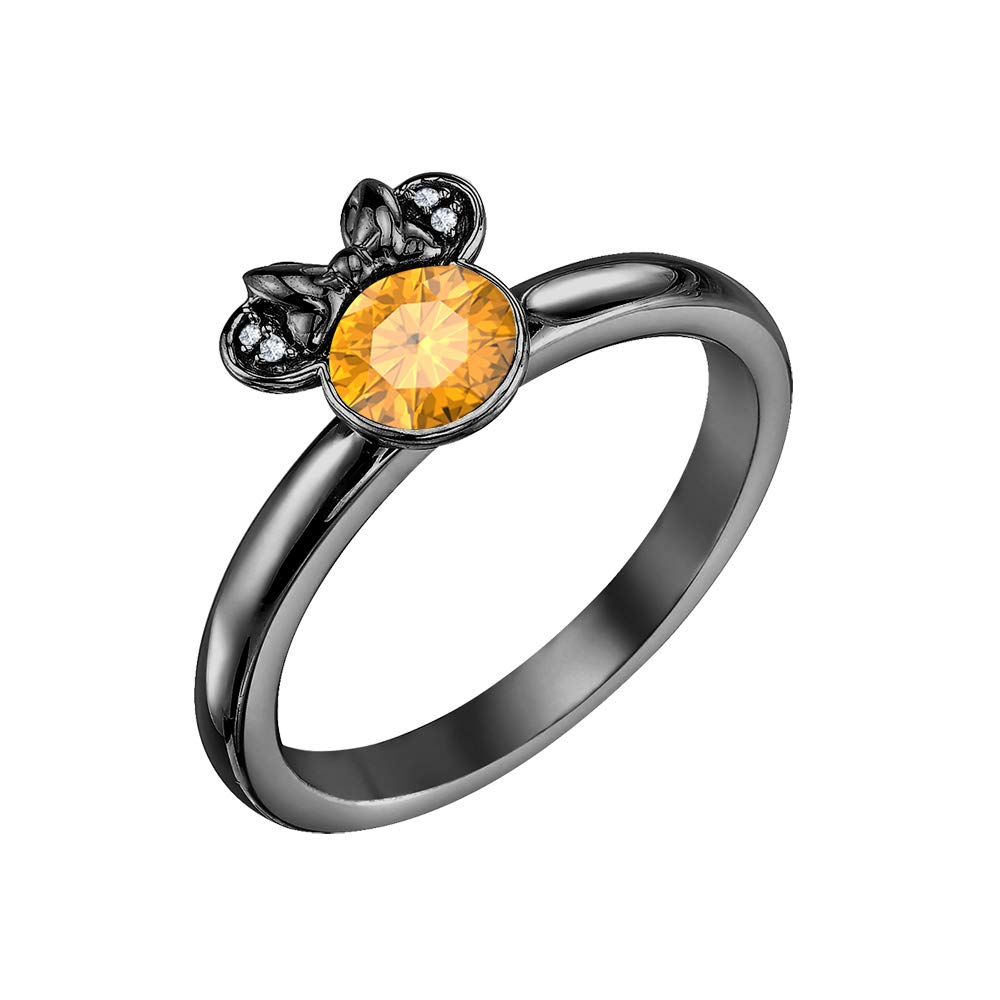 Dabangjewels 925 Sterling Silver 150tcw Citrine White Diamond 14k Gold Engagement Minnie Mouse Solitaire Ring For Women's Amazon: Minnie Mouse Wedding Ring At Websimilar.org