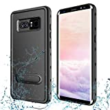 Transy Samsung Galaxy Note 8 Waterproof case,IP68 Certified Full-Body Protective Underwater Cover with Built-in Screen Protector Design for Galaxy Note 8 (Black)