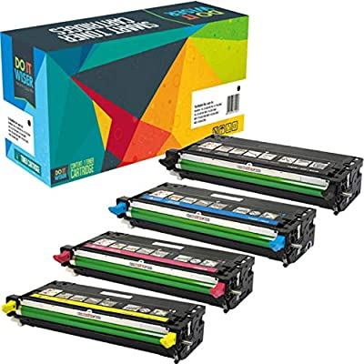 Do it Wiser Compatible Toner for Dell 3110cn 3115cn 3110 3115 | 310-8092 310-8094 310-8096 310-8098 - High Yield 8,000 Pages (4 Pack)
