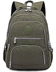 Oakarbo Backpack Medium Multi-Pocket School Bag Nylon Travel Daypack