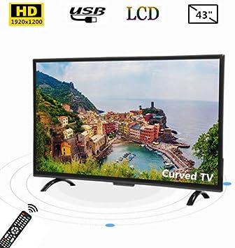 Tosuny Televisor Curvo de Pantalla Ancha de 43 Pulgadas UHD HDMI Smart TV 1920x1200 con HDR/USB/VGA/RF/AV, admite Salida de Video 4K y Control de Voz AI, curvatura 3000R, televisión Inteligente(UE): Amazon.es: Electrónica