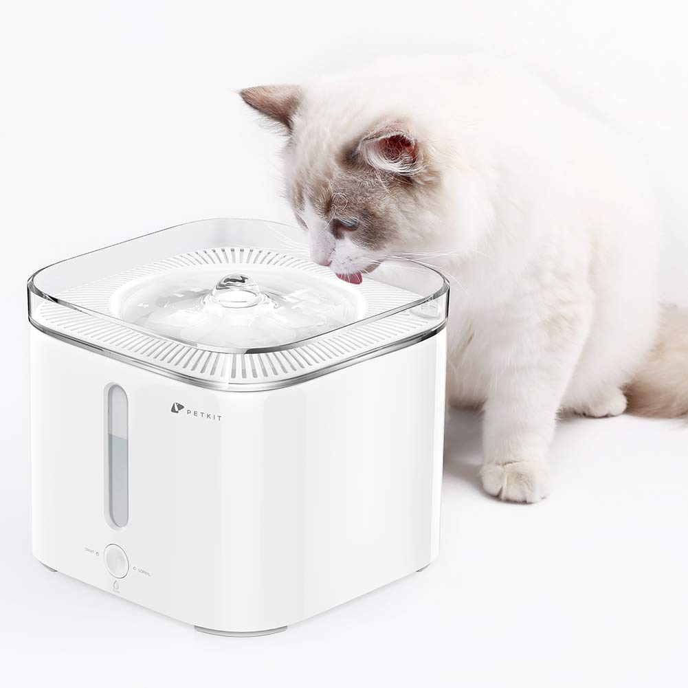 PETKIT Cat Water Fountain Automatic, 2L/68oz Pet Water Fountain Dog Water Fountain with LED Indicator, Water-Shortage, Filter-Change Reminder, Auto Shut-Off Super Quiet Cat Drinking Fountain Bowl by PETKIT