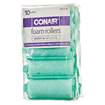 Foam Hair Rollers-Large - Green, 10 Ct - 1 Pkg